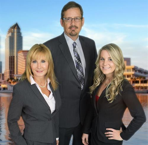 From left to right: Emma Hemness, Esq., Gerald Hemness, Esq., and Danielle Faller, Esq.