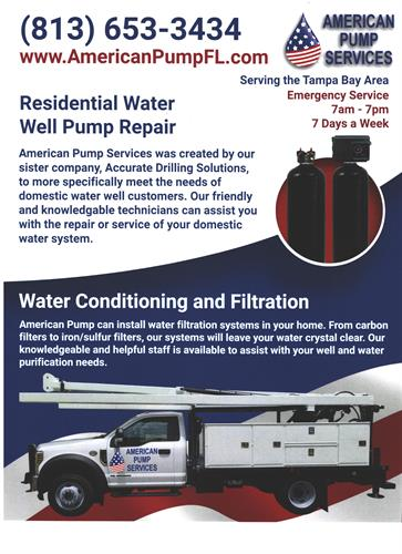 American Pump Services Inc    Well Repair - Greater
