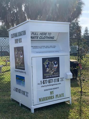 MY WARRIORS PLACE CLOTHING DONATION BOX
