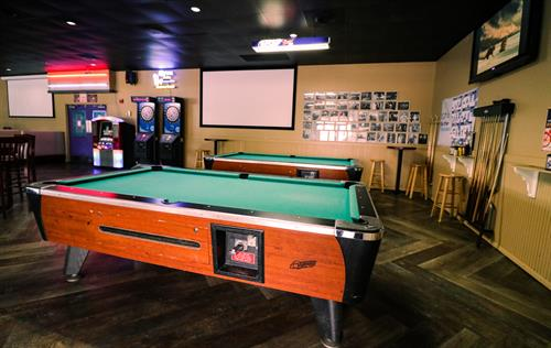 Pool tables, Dart machines and internet jukebox