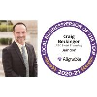 Craig Beckinger of ABC Event Planning Wins 2021 Alignable Local Business Person of The Year
