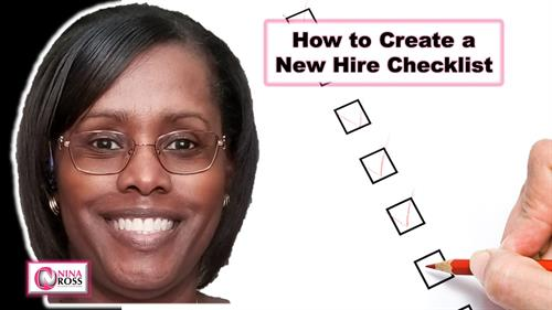 YouTube Video: How to Create a New Hire Checklist