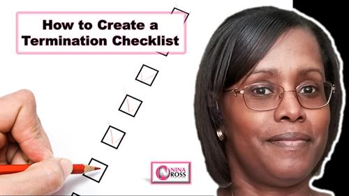 YouTube Video: How to Create a Termination Checklist