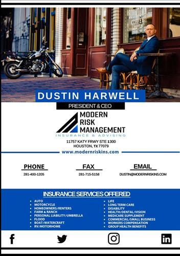 Modern Risk Management Marketing Flyer