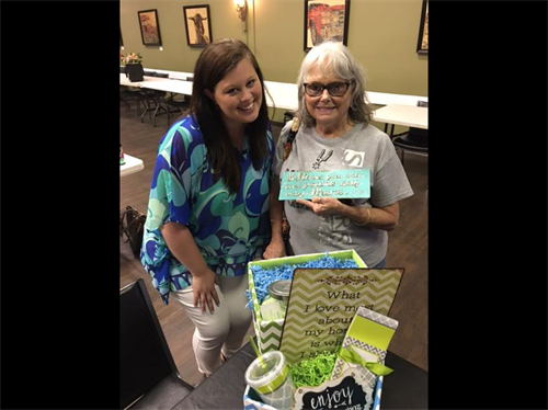 Congratulations to JoBeth Crim on winning ourBasket at FiftyForward Donelson Station Health Fair