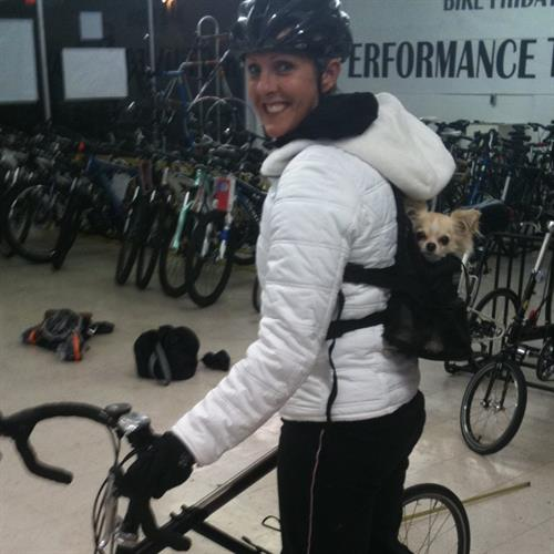 Bike Fitting with Able my pup