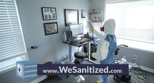 Professional disinfecting sanitizing services available