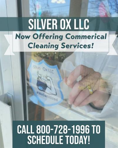 Commercial Cleaning Services Available!