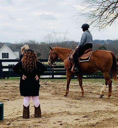 Survivors at Equine Therapy