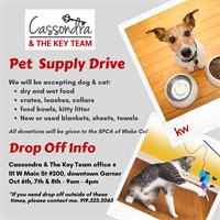 Cassondra & The Key Team Pet Supply Drive!