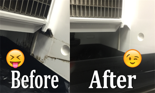Before / After we performed an Ice Machine cleaning