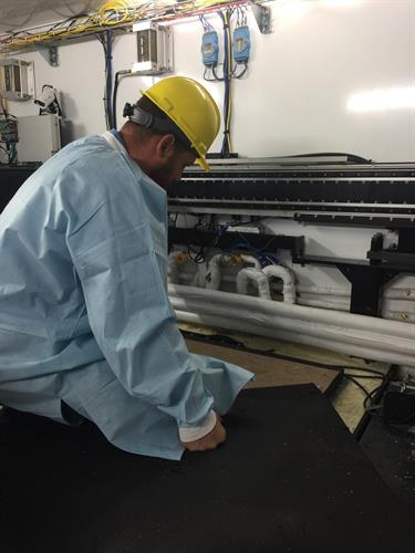 Charles working on a Refrigeration system for a Pharmaceutical company