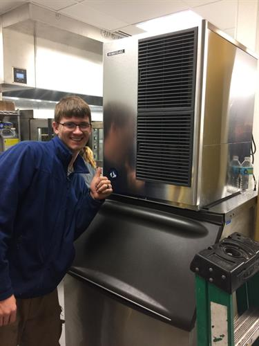 David after an Ice Machine install