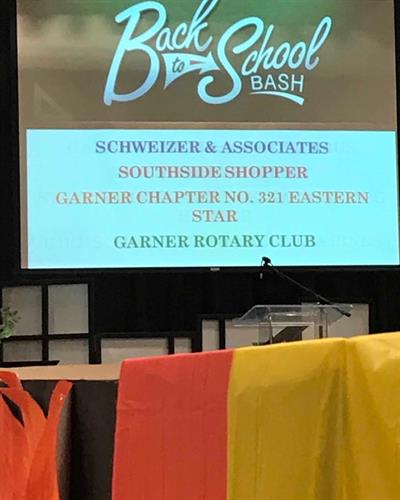 Schweizer & Associates sponsoring and volunteering at the GUMC Back to School Bash