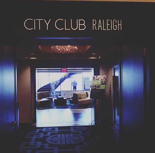 Love getting to know our local businesses! City Club Raleigh Business Expo!
