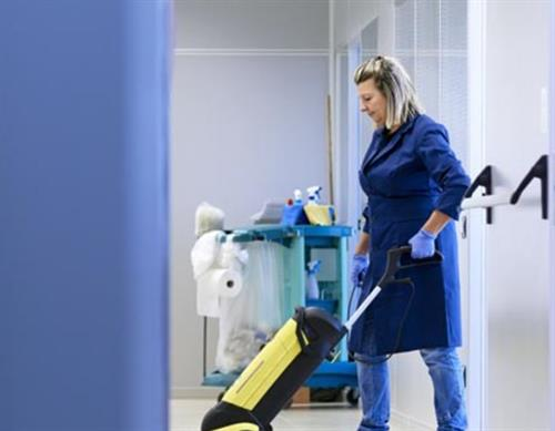 Quality floor care, including VCT tile care and autoscrubbing