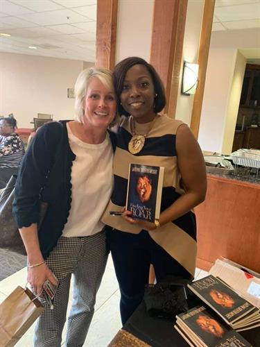 """Happy """"Finding Your ROAR"""" Reader at my Book signing."""