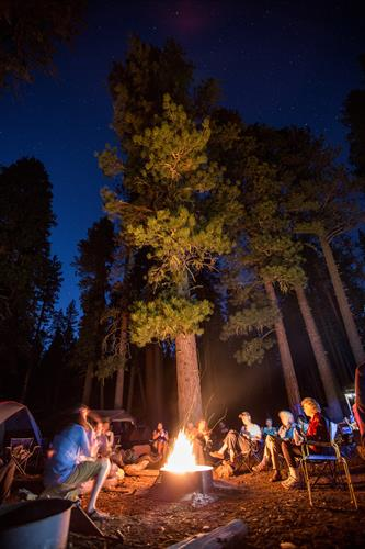 Enjoy a night under the stars by a campsite with friends!