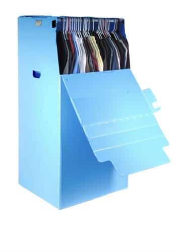Reusable  wardrobe boxes with steel bar.