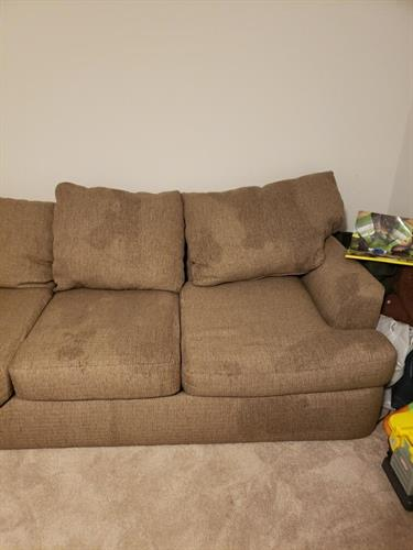 Twill Fabric Couch Cleaning