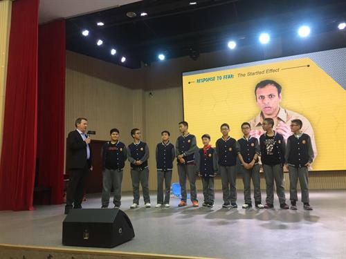 Chengdu China, Training Students about safety Chengdu Foreign Language School