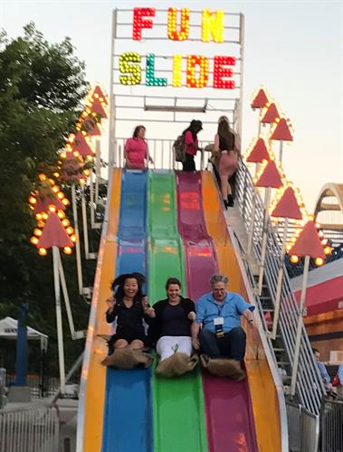 Working with us is a ride on the fun slide!