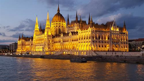 On the Danube River Cruise Budapest Parliament