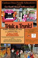 Curious Ones Family School, LLCs FOURTH Annual Family Halloween Event: TRICK a TRUNK! A FREE Family Event Open to the Public!