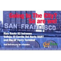SolTrans Route 82 Goes to SF Ferry Terminal