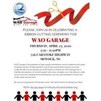 Ribbon Cutting Ceremony for WAO Garage POSTPONED TBA