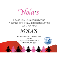 Please join us in celebrating NOLA'S Grand Opening & Ribbon Cutting Ceremony