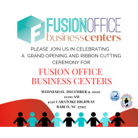 Join us to celebrate Grand Opening & Ribbon Cutting Celebration for Fusion Office Business Centers