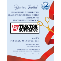 Please Join us to celebrate the Grand Opening & Ribbon Cutting event for Tractor Supply Co.