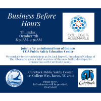 Business Before Hours with Dr. Jack Bagwell, President of College of the Albemarle