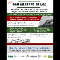 FREE Grant Seeking & Writing Series Presented by:  Calvin Patterson, Earnest Harvest LLC