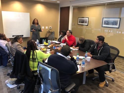 Late Post: Friday, November 15, Sibyl was invited by the M H Miles Company CPA, PC to present a Money Management Seminar. She spoke to small business owners participating in the GDOT State Supported Funding Program that helps business owners procure contract work with the Georgia Department of Transportation.