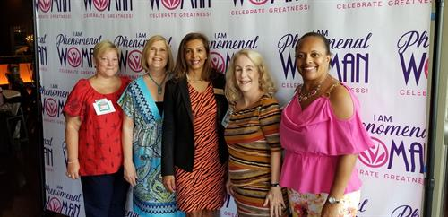 Here are Danielle Grant, Melba Roberts, Gwen Garrison & Sibyl Slade at the I AM Phenomenal Woman Conference.  Annie Singh-Quern is the I AM Phenomenal Woman Conference organizer.  I AM Phenomenal Woman Conference was held on September 14, 2019