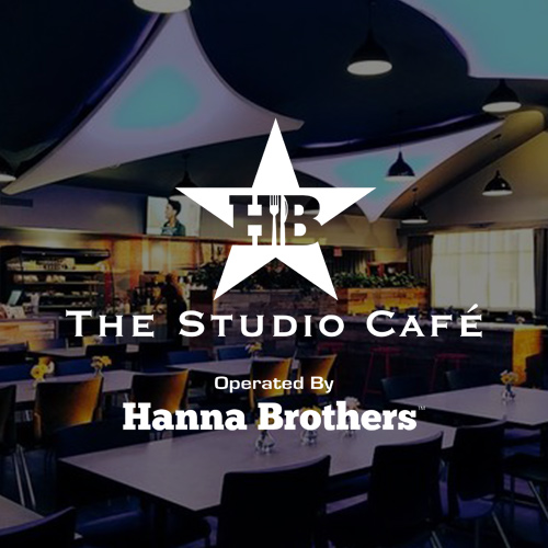 The Studio Cafe Operated by Hanna Brothers.