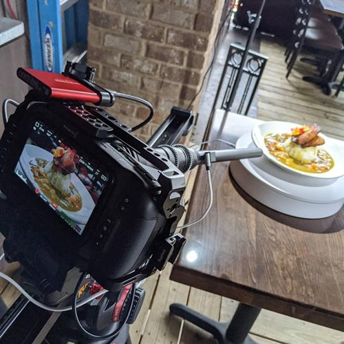 Behind the scenes on how we get some of those delicious food shots!