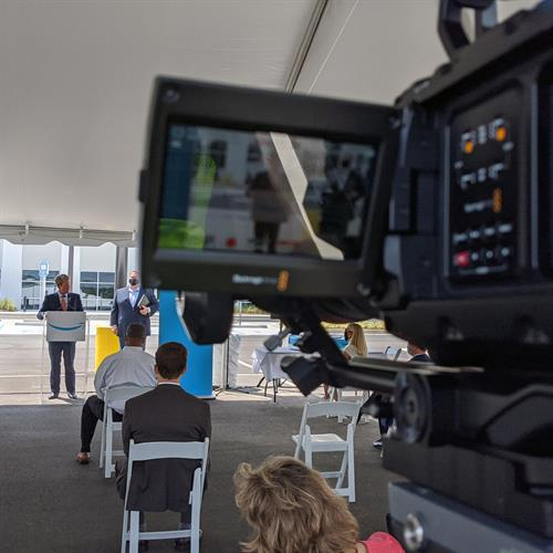 Stone Mountain is home to Georgia's first Amazon Robotic's Fulfillment Center. Governor Kemp was at the Grand Opening.