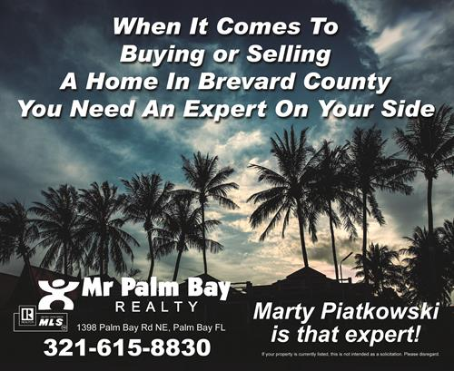 Let Mr Palm Bay Realty is YOUR realtor!