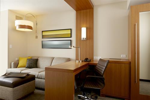 Working space in sleeping room