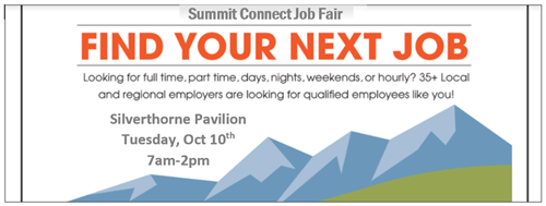 October 10, 2018 - The Summit Connect Business Expo and Job Fair