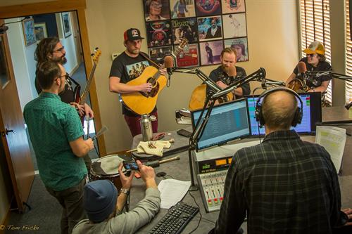 Fruition playing LIVE in the Krystal 93 studio!