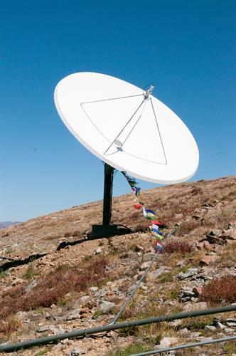 Receiving Satellite Dish