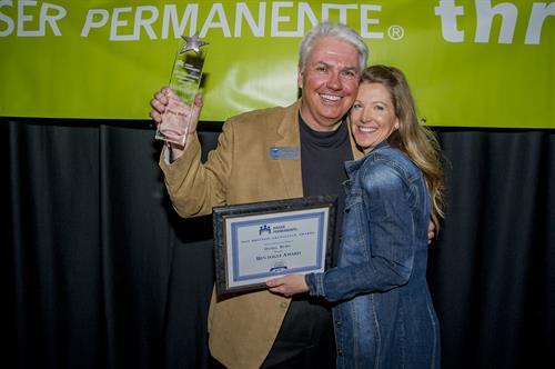 Winner of the 2017 Ben Fogel Award with my Fiancee' Tami Clark