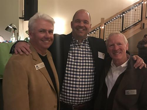 Cmaber of Commers Presdent Tony Pestello (center), Past President Mark Nunn (right) and Future President Doug Berg (left)