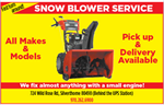 Snow Blower Service and Go fast Service