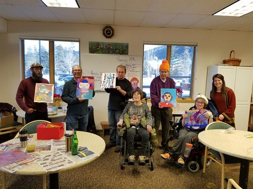 Art Class with Timberline Adult Day Center