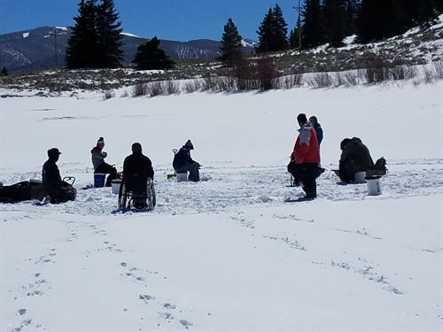 Ice Fishing on Lake Dillon